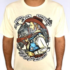 Camiseta Estilo Cowboy bege Stand for Something
