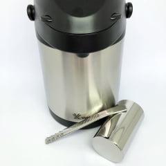 Kit terere inox copo redondo bomba prime e garrafa termica